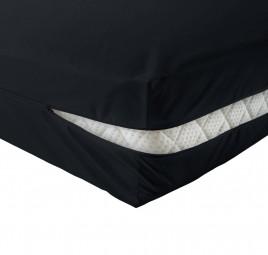 unversteppter Matratzenbezug in schwarz
