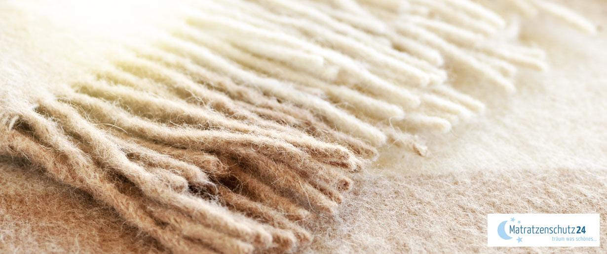 Wolldecke in der Nahaufnahme
