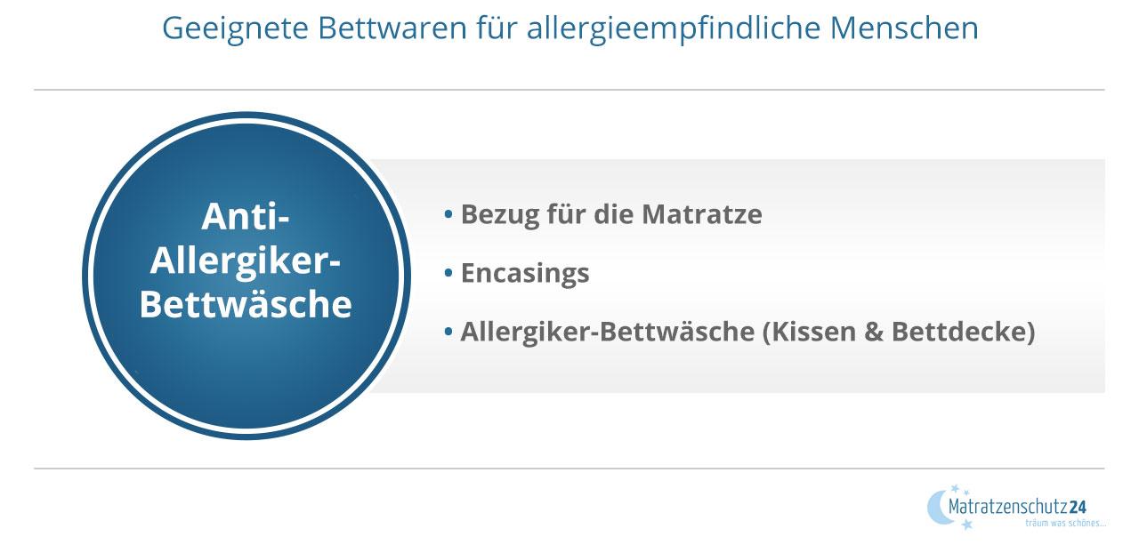 Geeignete Bettwaren für allergieempfindliche Menschen