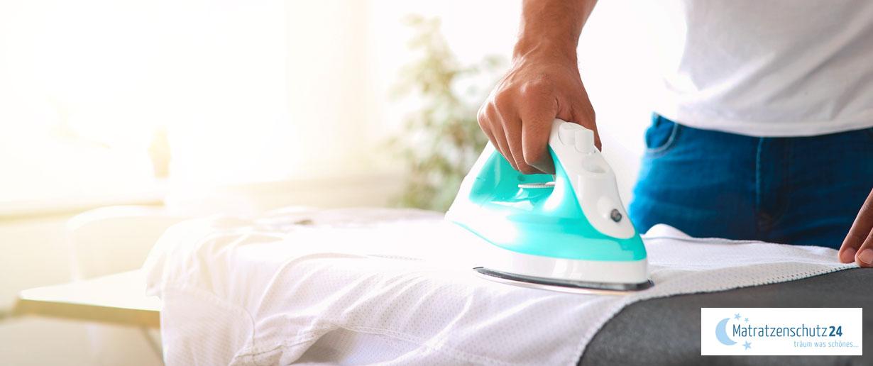 Waschsymbole für das Bügeln