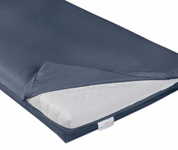 wasserdichter abwischbarer Matratzenbezug in blau inkontinenz PROCAVE Matratzenschutz24