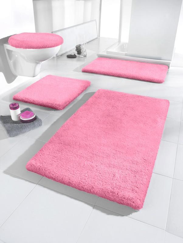 Antirutschmatte Wenko Duscheinlage Florida rosa Badteppich 55 x 55 cm Badematte Duscheinlage Duschmatte