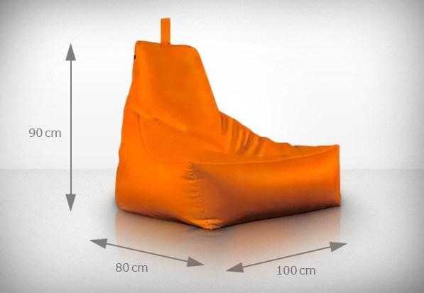 Lounge Sessel in orange 100x90x80cm
