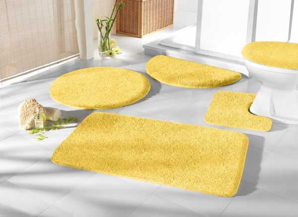 Mikrofaser Badprogramm gelb Badematte Set Badvorleger Set Badezimmerteppich Badematten Set Badteppiche Badezimmermatten Badganitur Badläufer
