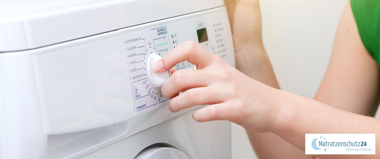 den richtigen Waschgang an der Waschmaschine einstellen