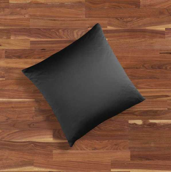 Seidenbettwäsche MAURITIUS in der Farbe schwarz