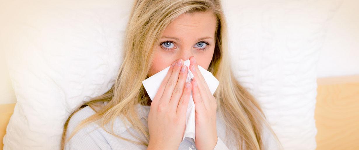 Allergische Rhinitis und Schnupfen als Symptom
