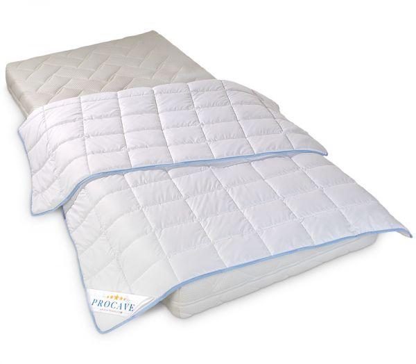 PROCAVE TopCool kochfeste Qualitäts-Sommerbettdecke für den Sommer Matratzenschutz24