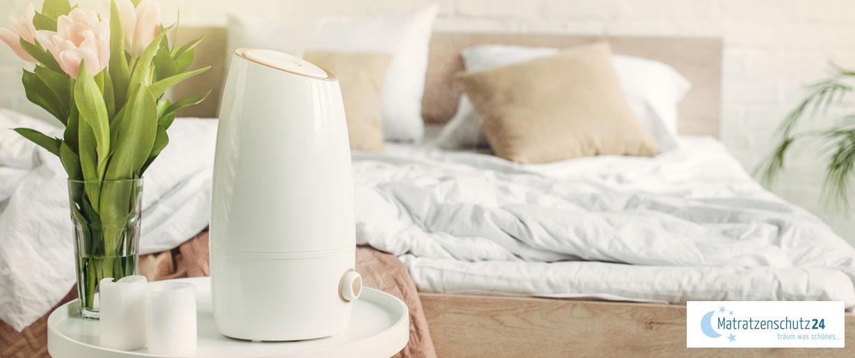 Luftbefeuchter im Schlafzimmer