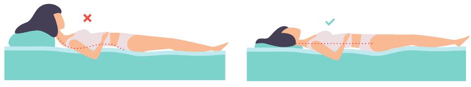 Die beste Position für Rückenschläfer