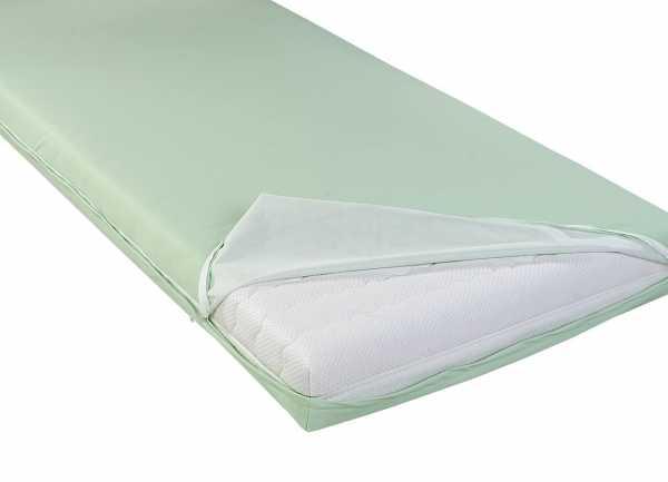 wasserdichter abwischbarer Matratzenbezug in grün inkontinenz PROCAVE Matratzenschutz24