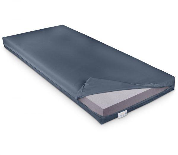 PROCAVE Pflegematratze mit Kaltschaumkern und wasserdichtem Bezug in dunkelblau Matratzenschutz24