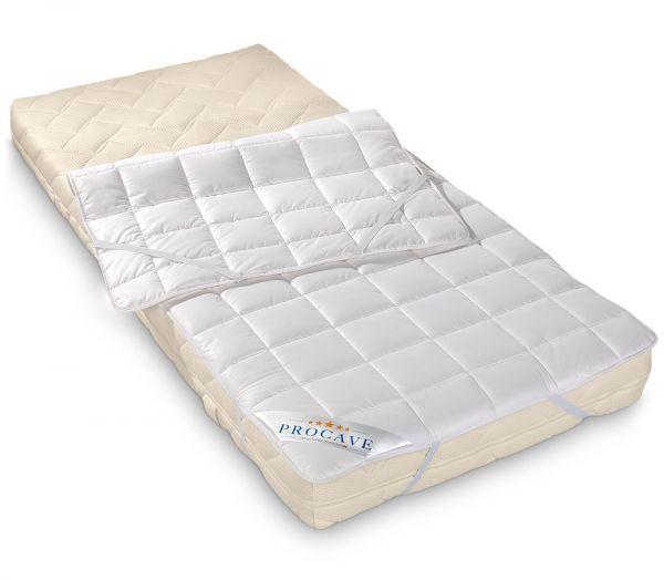 PROCAVE Baumwolle Matratzenschoner als Unterbett Matratzenauflage aus Deutschland aus Natur