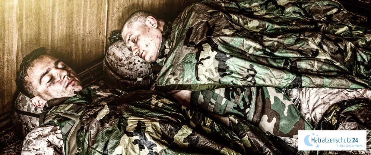 Schlafende Soldaten