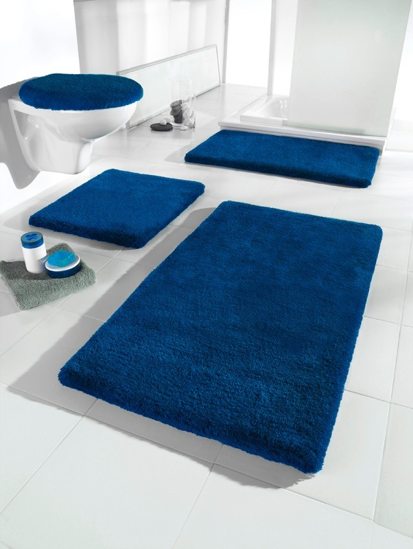 badematte blau. Black Bedroom Furniture Sets. Home Design Ideas