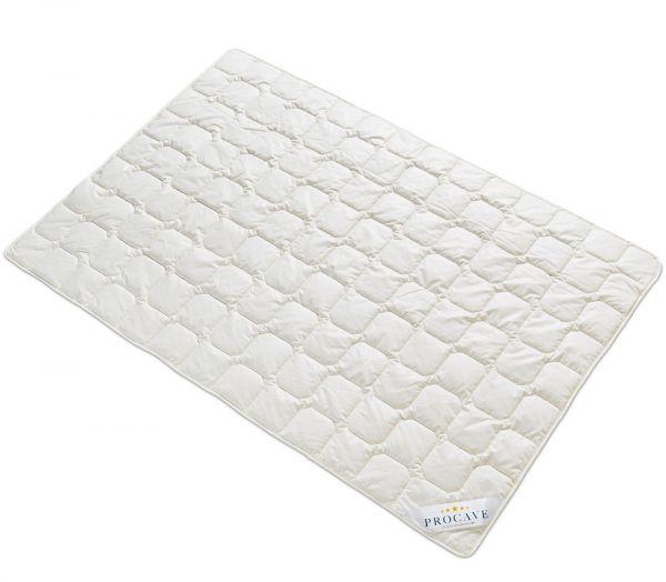 PROCAVE Wildseide Exquisit Qualitäts-Bettdecke für den Sommer leichte Sommerbettdecke Tussahseide aus der Natur atmungsaktiv wärmeausgleichend PROCAVE Matratzenschutz24