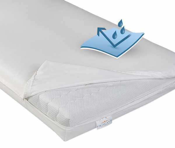 wasserdichter abwischbarer Matratzenbezug in weiß inkontinenz PROCAVE Matratzenschutz24
