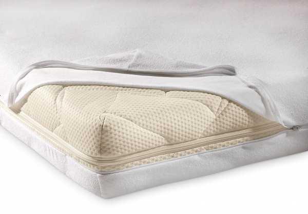 unversteppter Matratzenbezug Frottee-Strech in weiß PROCAVE Matratzenschutz24