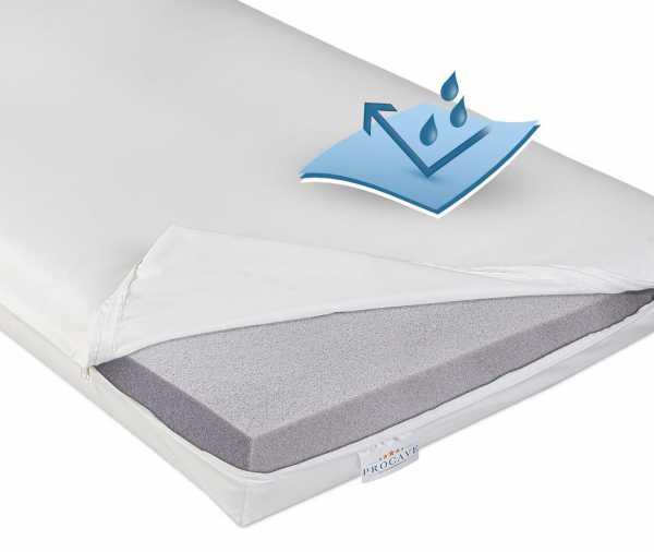 Pflegematratze mit Kaltschaumkern und wasserdichtem Bezug in weiß PROCAVE Matratzenschutz24