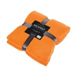Premium Mikrofaser Kuscheldecke 150x200cm in orange