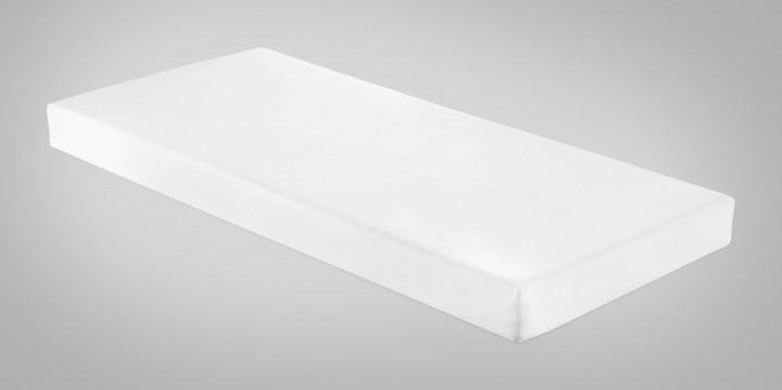 Pflegematratze mit Kaltschaumkern und wasserdichtem Bezug in weiß